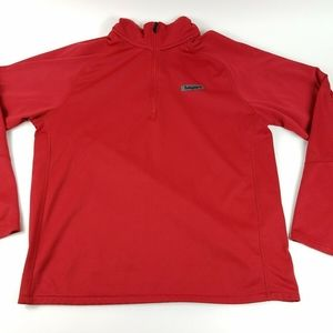 Timberland Mens Large Red Polyester Logo Shirt